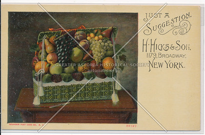 H. Hicks & Son Ad, 1179 B'way, NYC
