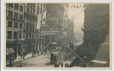 Hotel Martinique Election Banners, B'way, 1913
