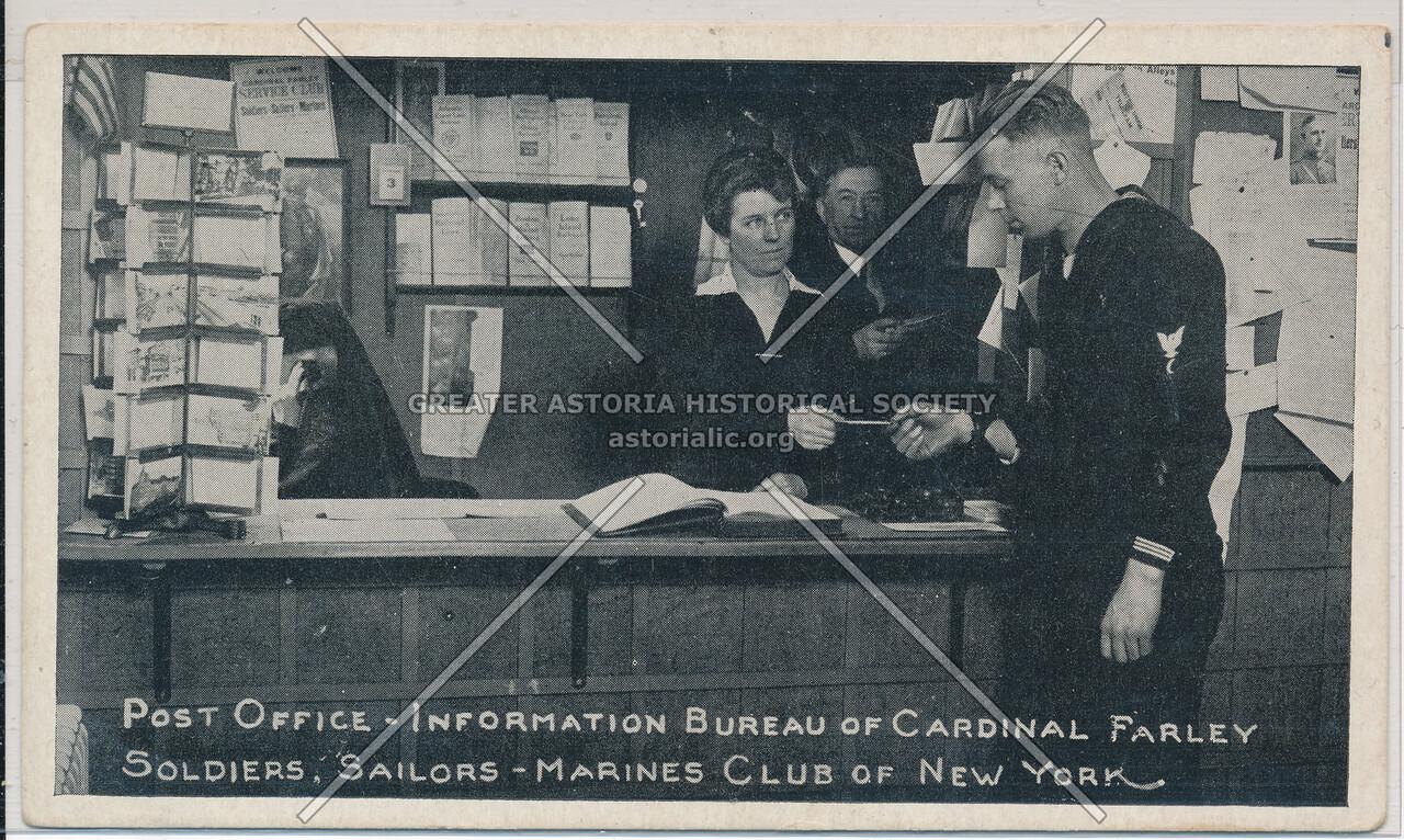Cardinal Farley Soldiers, Sailors, Marine Club, NYC (1918)