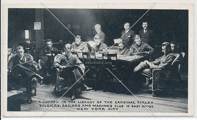 Cardinal Farley Soldiers, Sailors, Marine Club, NYC (1918)