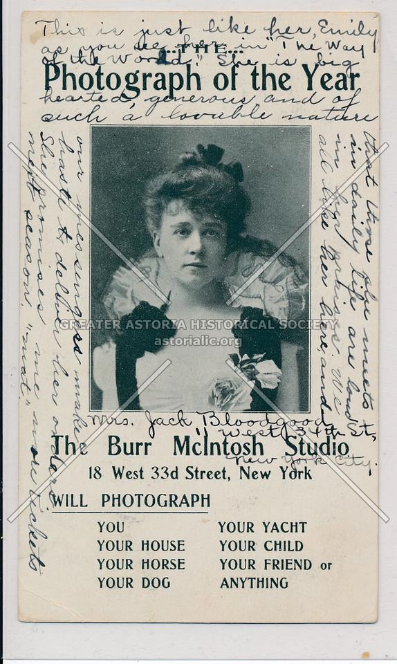 Burr McIntosh Studio Ad, 18 W 33 St, NYC