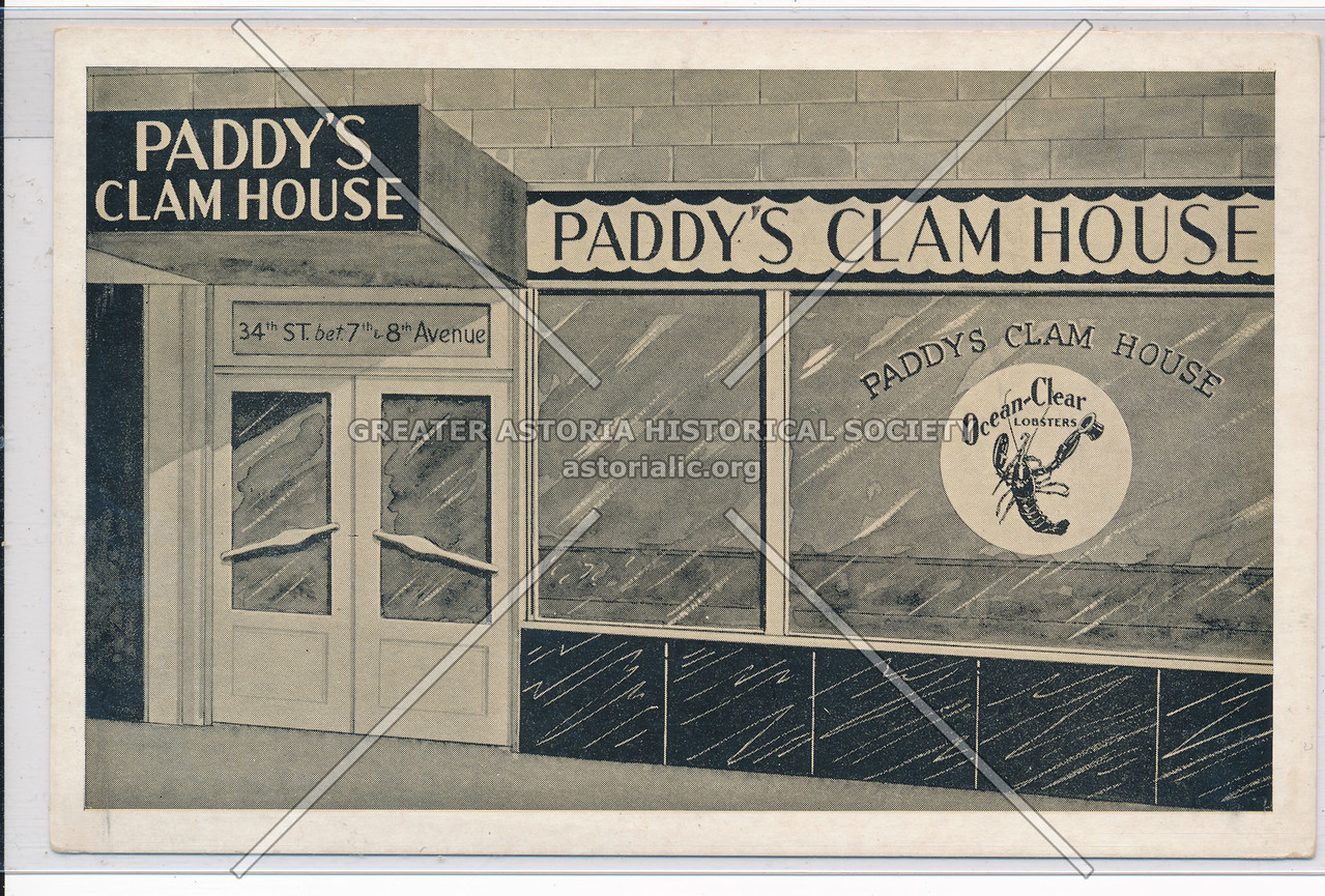 Paddys Clam House, 315 W 34th St, NYC