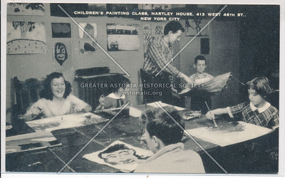 Children Painting, Hartley House, 413 W 46 St, NYC