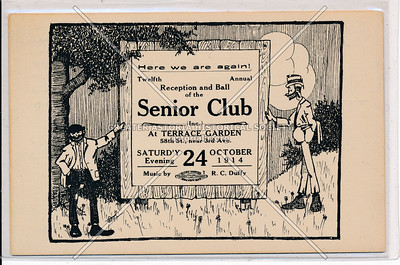 Reception and Ball, Senior Club, Terrace Garden, 58 St, 3 Av, NYC