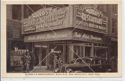Murray's Bar & Grill, 1247 6th Ave, NYC (opp Radio City)