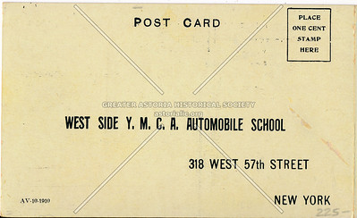 YMCA, 316 W 57 St, NYC (Automobile Instruction Booklet)
