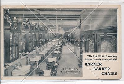 Martires Barber Shop, 1418 B'way. NYC