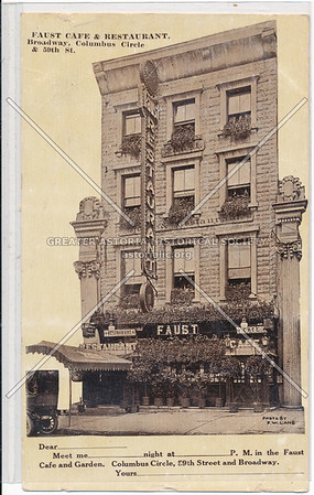 Faust Café, Columbus Circle, NYC