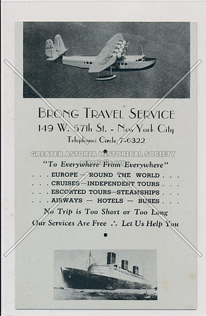 Brong Travel Service, 149 W 57 St, NYC