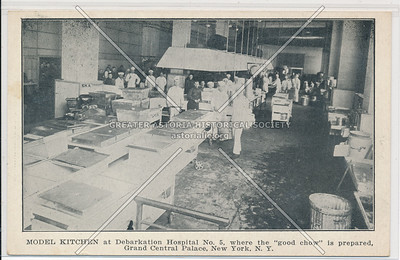 Kitchen, Debarkation Hospital, Lex & 46 St, NYC