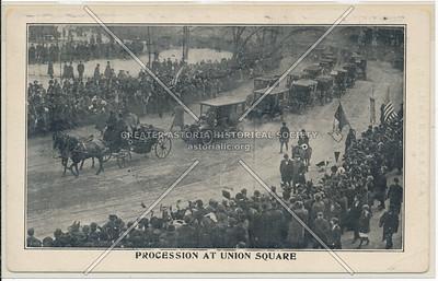 Cardinal Farley Procession at Union Sq