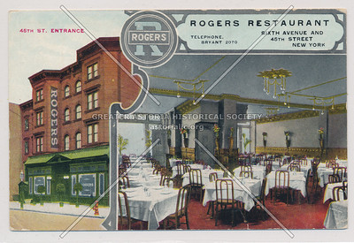 Rogers Restaurant, 6th Ave & 45 St, NYC