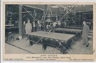 John Doyle's Pool Hall, B'way & 42nd St, NYC