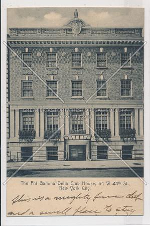 Phi Gamma Delta Club House, 34 W 44 St, NYC