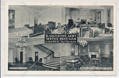 Salvation Army Service Mens Club, 12 W 56 St, NYC