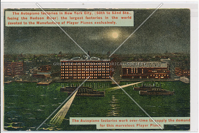 Autopiano Factory, 50/51 St, Hudson River, NYC