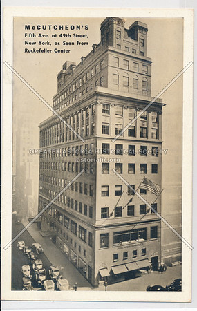 McCuthcon's Home Furnishings, 5th Ave atb 49 st, nr Rock Center, NYC