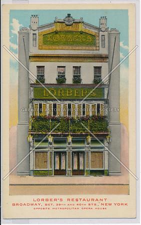 Lorbers Restaurant, B'way 39/40 St, NYC