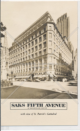 Saks Fifth Ave & St Patrick's Cathedral, NYC