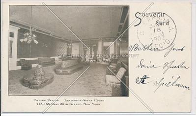Ladies Parlor, Lexington Opera House, 145 E 58 St, NYC