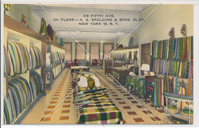 A. G. Spalding Cloths, 518 5th Ave, NYC