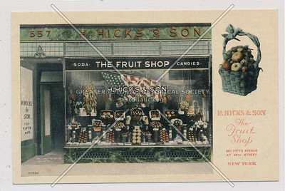H Hicks & Son Fruit Shop, 557 5th Ave, NYC