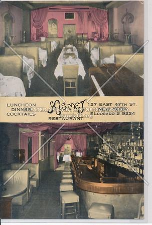 Kismet Restaurant, 127 E 47 St, NYC