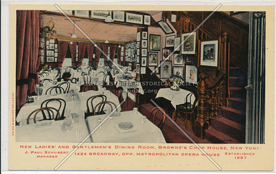 Brownies Chop House, 1424 Bway, NYC (1857)