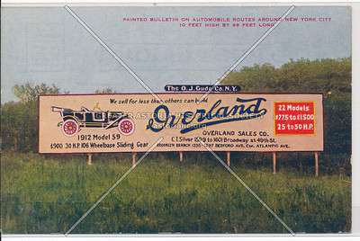 Billboard for Overland Car, 1912