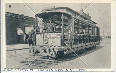 First trolley on Madison Ave, 1898