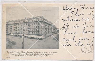 City & Suburban Apts, 1st Av 64/65 St, NYC