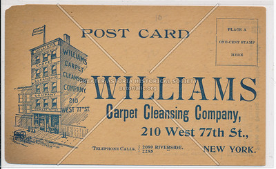 Williams Carpet Cleaning, 210 West 77 St, NYC