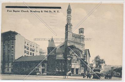 First Baptist Church, B'way & 79 St, NYC