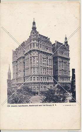 Ansonia Hotel, B'way btw 73 & 74 St, NYC