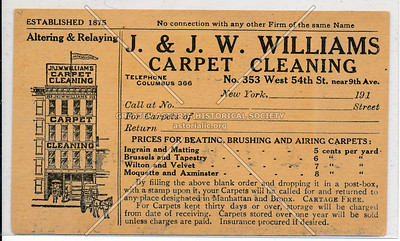 J. and J.W. Williams, 353 West 54 St, NYC