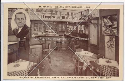 Martin's Rathskeller, 226 E 86 St, NYC