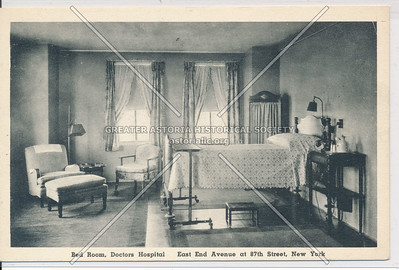 Bed room, Doctors Hospital, East End Ave & 87th St, NYC