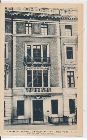 Claremont School, 24 W 74 St, NYC