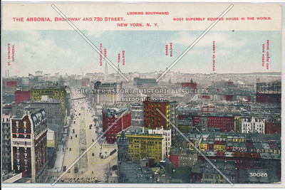 The Ansonia, B'way & 73 St, NYC (looking south)