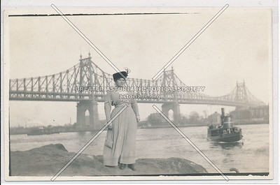 Woman with Queensboro Bridge in Background