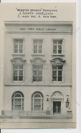 Webster Branch, New York Public Library, 1465 Ave A, NYC