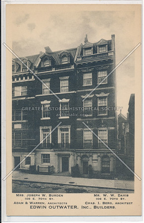 Burden Residence, 108 E 70 St, NYC