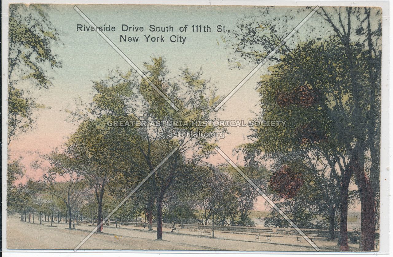 Riverside Dr S of 111 St, NYC