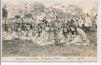 Hudson Fulton Celebration (1909) - Indian Gathering at Hayden Site
