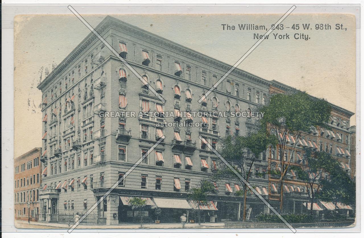 The William, 243 W 98 St, NYC