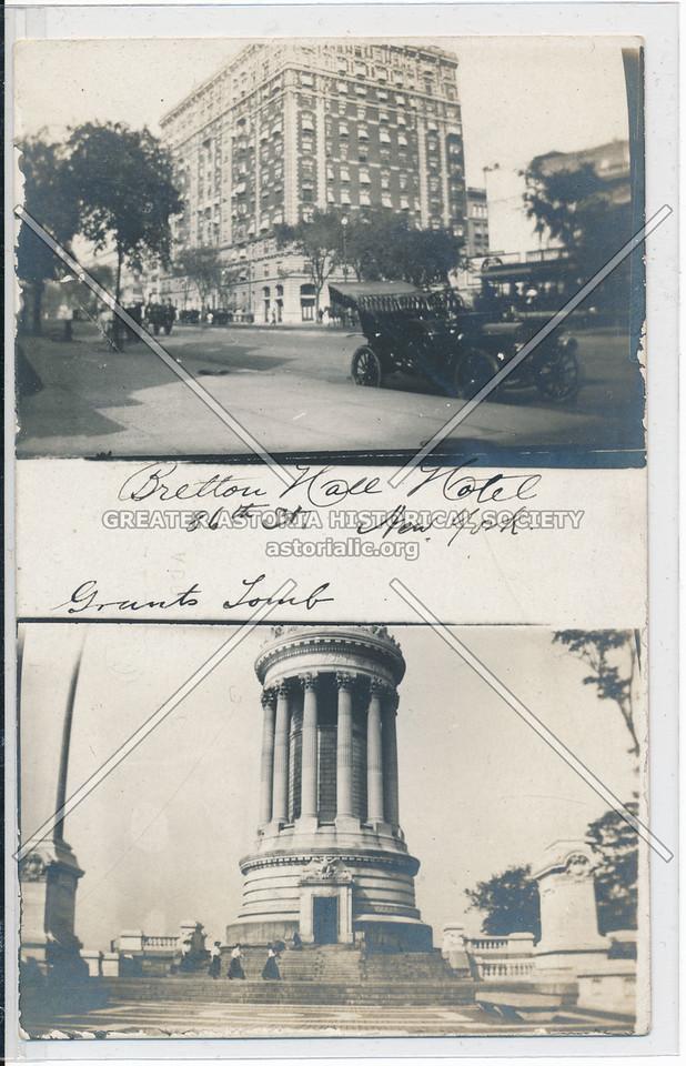 Hotel Bretton Hall, W 86 st & B'way & Grants Tomb, NYC