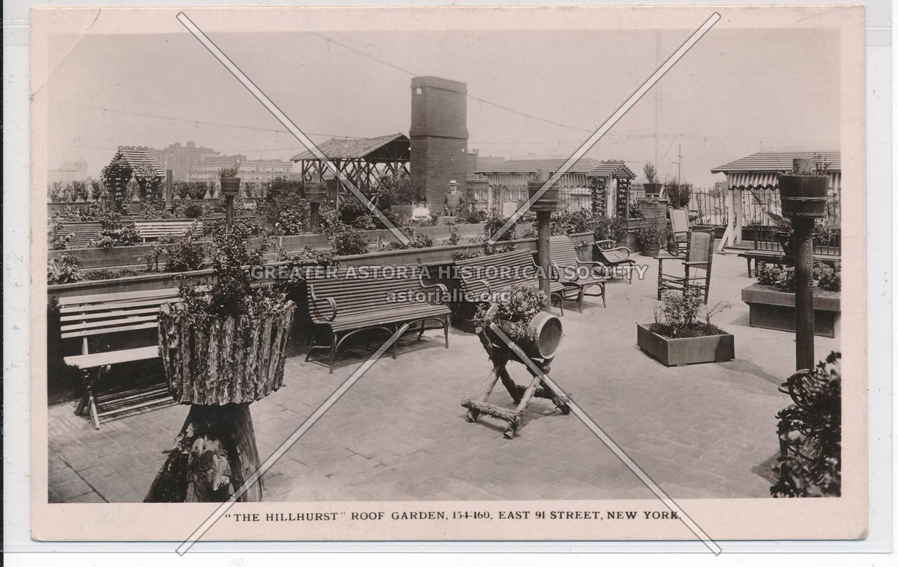 The Hillhurst, 154 E 91 St, NYC - Roof Garden