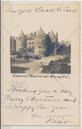 Central Memorial Hospital, 108 St & CPW, NYC