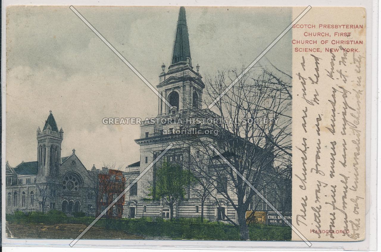 Scotch Presbyterian & Christian Science, C.P.W., NYC