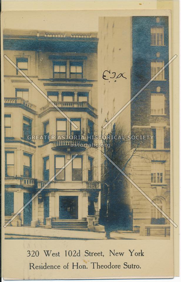 Theodore Sutro, 320 W 102 St, NYC